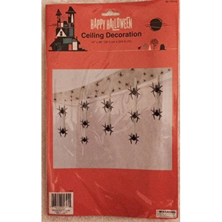 Happy Halloween Ceiling Decorations - Spiders, Decorate your home during Halloween with floating Spiders! By Momentum Brands