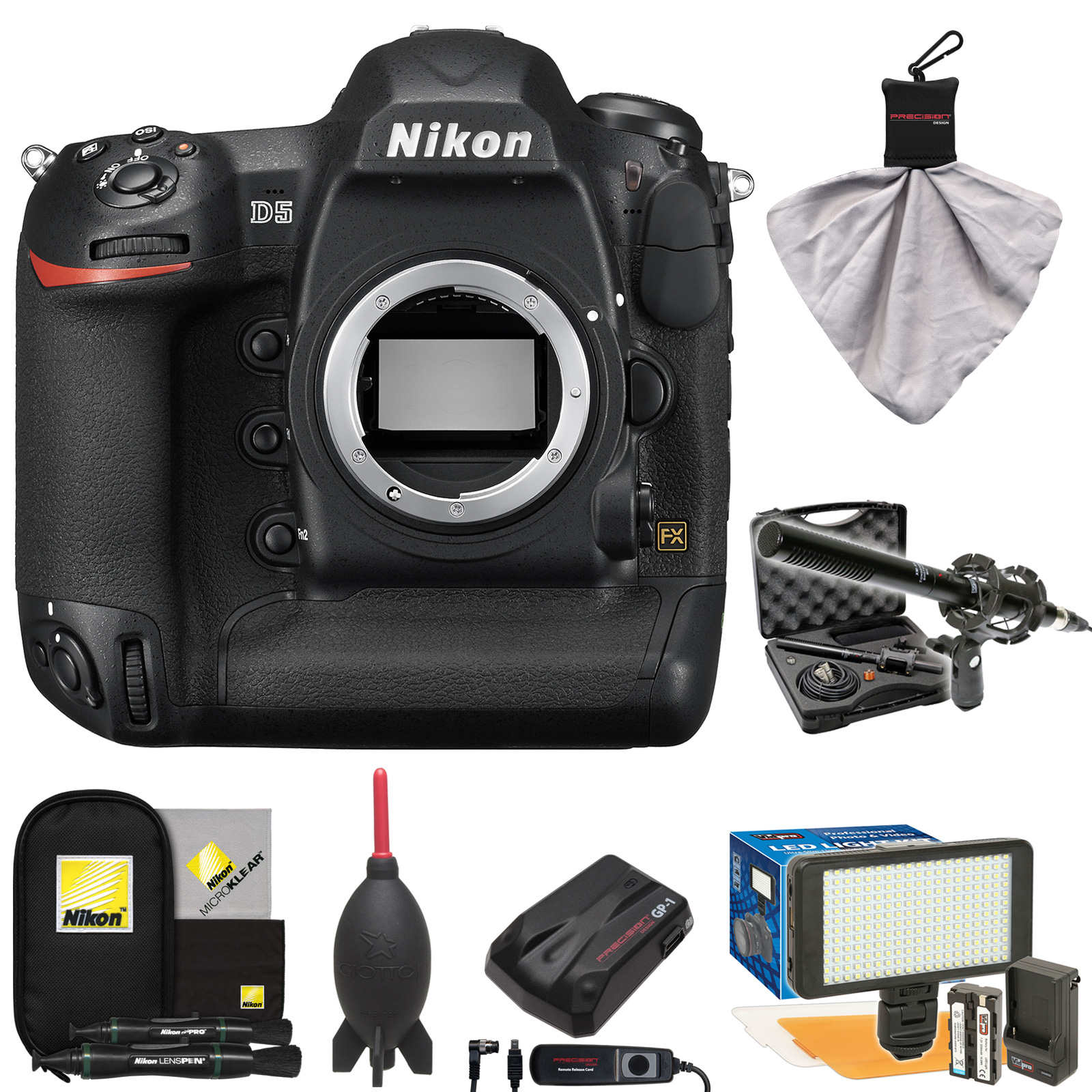 Nikon D5 Digital SLR Camera Body (Dual CF Slots) with Mic...