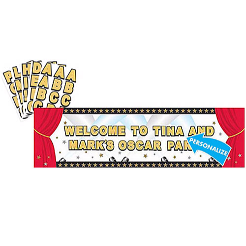 Hollywood Movie Night Sign Banner Kit (1ct)