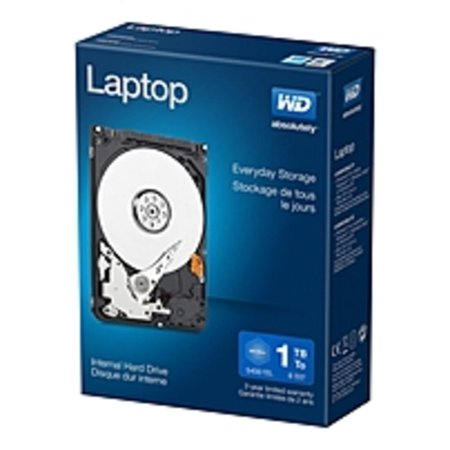 WD Laptop Mainstream Internal Hard Drive 2.5 Inch - SATA - 5400 rpm - 8 MB Buffer - 1TB