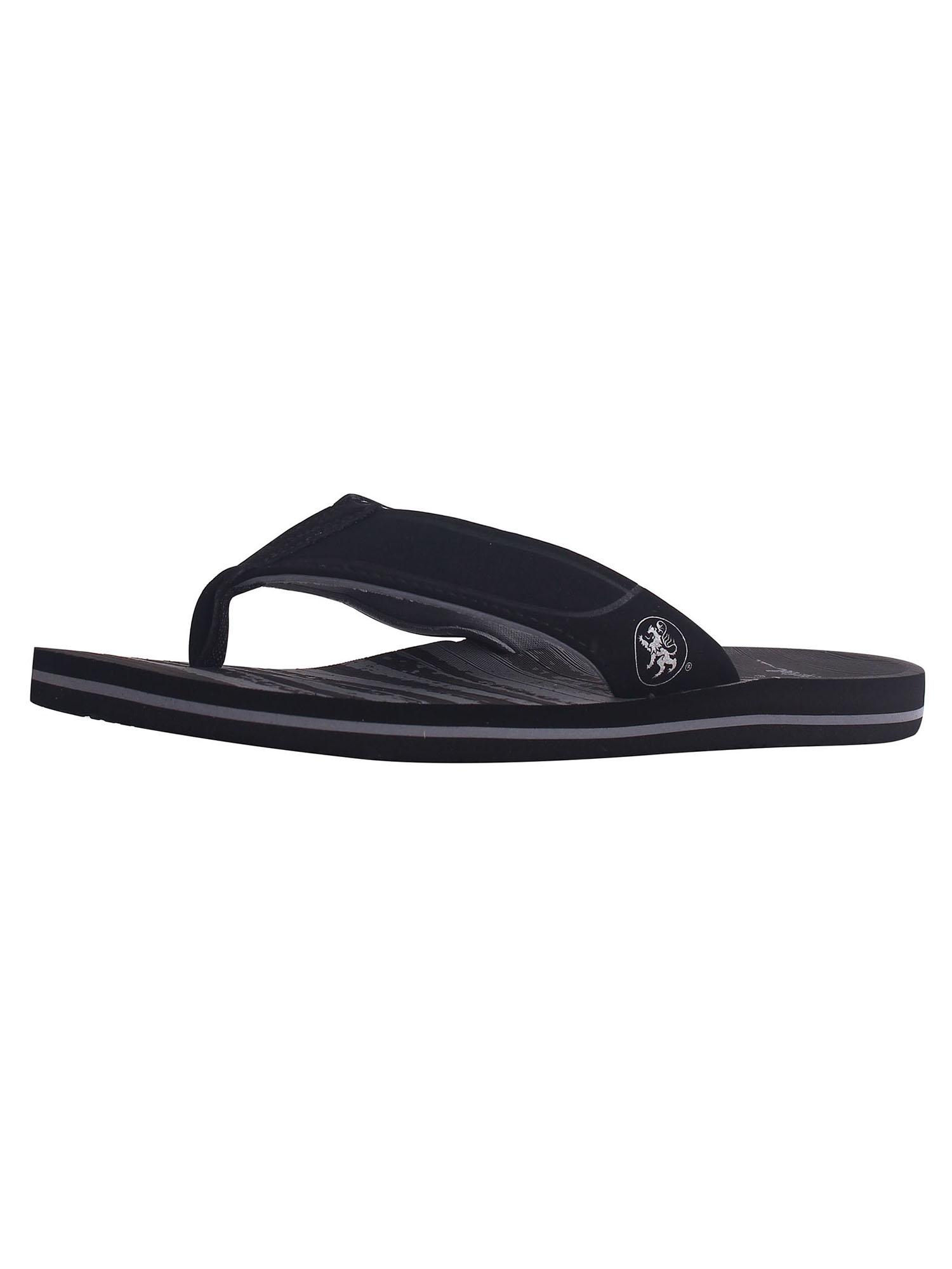 Men's Athletic Strap Poolside Casual Beach Flip Flop Sandals, Black/Grey, 10
