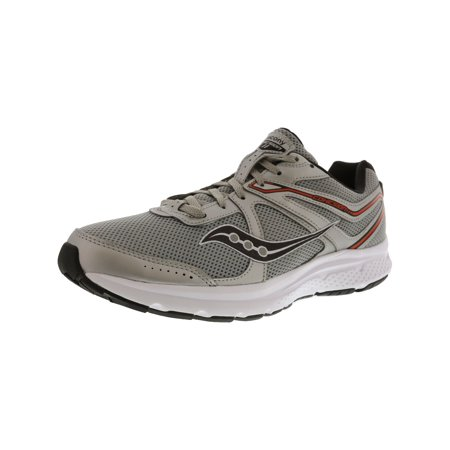 Saucony Men's Grid Cohesion 11 Silver / Orange Ankle-High Mesh Running Shoe -