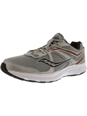799315cf66c7e Product Image Saucony Men s Grid Cohesion 11 Silver   Orange Ankle-High  Mesh Running Shoe - 10.5