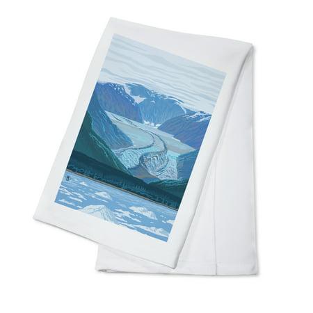 Glacier (Waterline) - Lantern Press Poster (100% Cotton Kitchen
