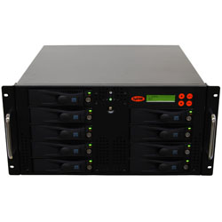 SySTOR 1:8 SATA Hard Disk Drive (HDD SSD) Rackmount Duplicator Sanitizer High Speed(150mb sec) (SYS208RMHDD) by Systor