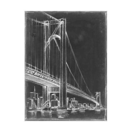 Suspension Bridge Blueprint I Print Wall Art By Ethan Harper