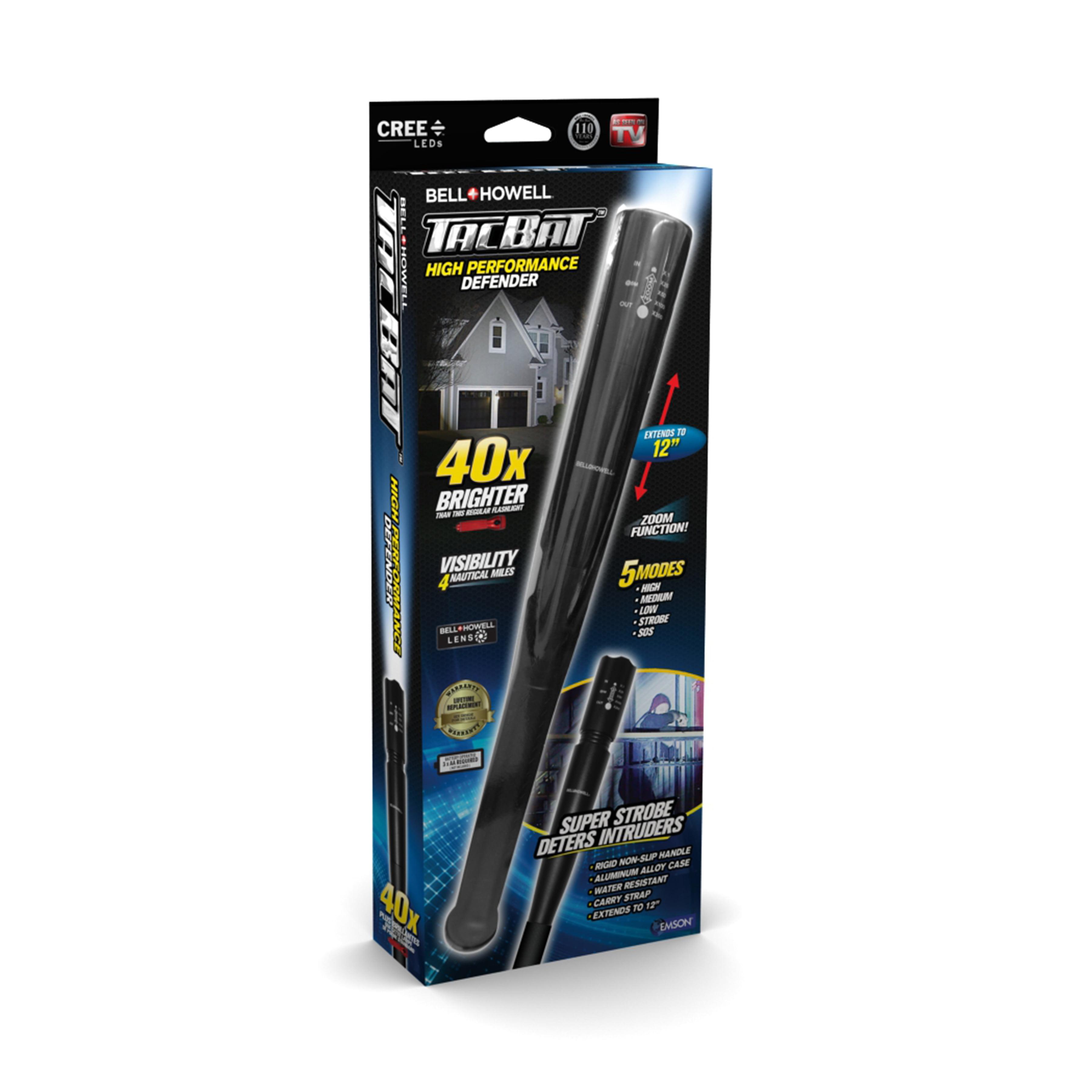 Bell + Howell Tac Bat Military Grade High Performance Tactical Flashlight & Bat, As Seen on TV! Black