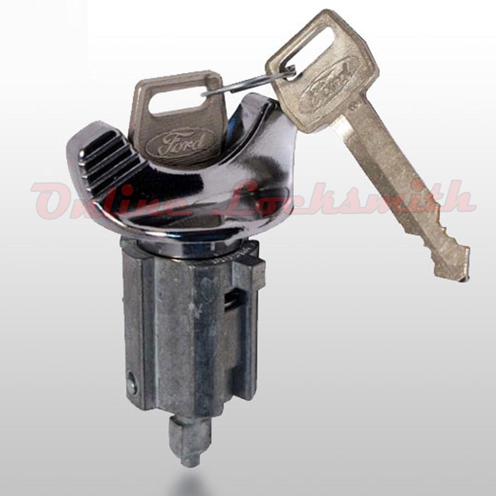New Mercury Mystique 1990-1992 10-Cuts Coded Ignition Switch Cylinder w Two Keys
