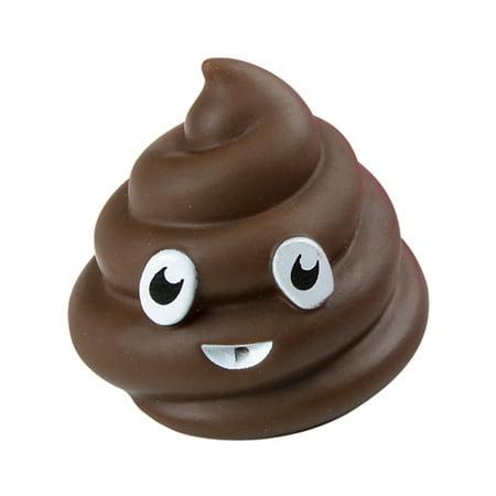 Brown Poop Emoji Emoticon Bath Squirt Toy Party Favor