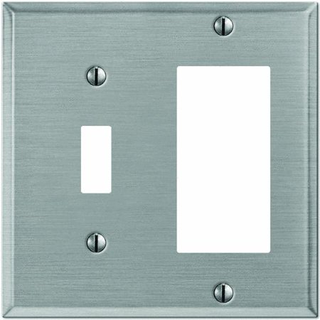 brushed nickel toggle combination wall plate. Black Bedroom Furniture Sets. Home Design Ideas