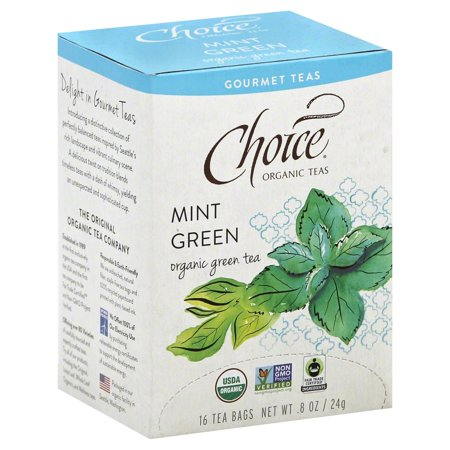 Choice Organic Teas Organic Gourmet Teas, Mint Green, 16