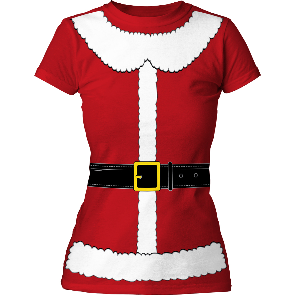 Impact Originals Manufacturer Design Mrs. Claus Juniors Tunic Dress Shirt