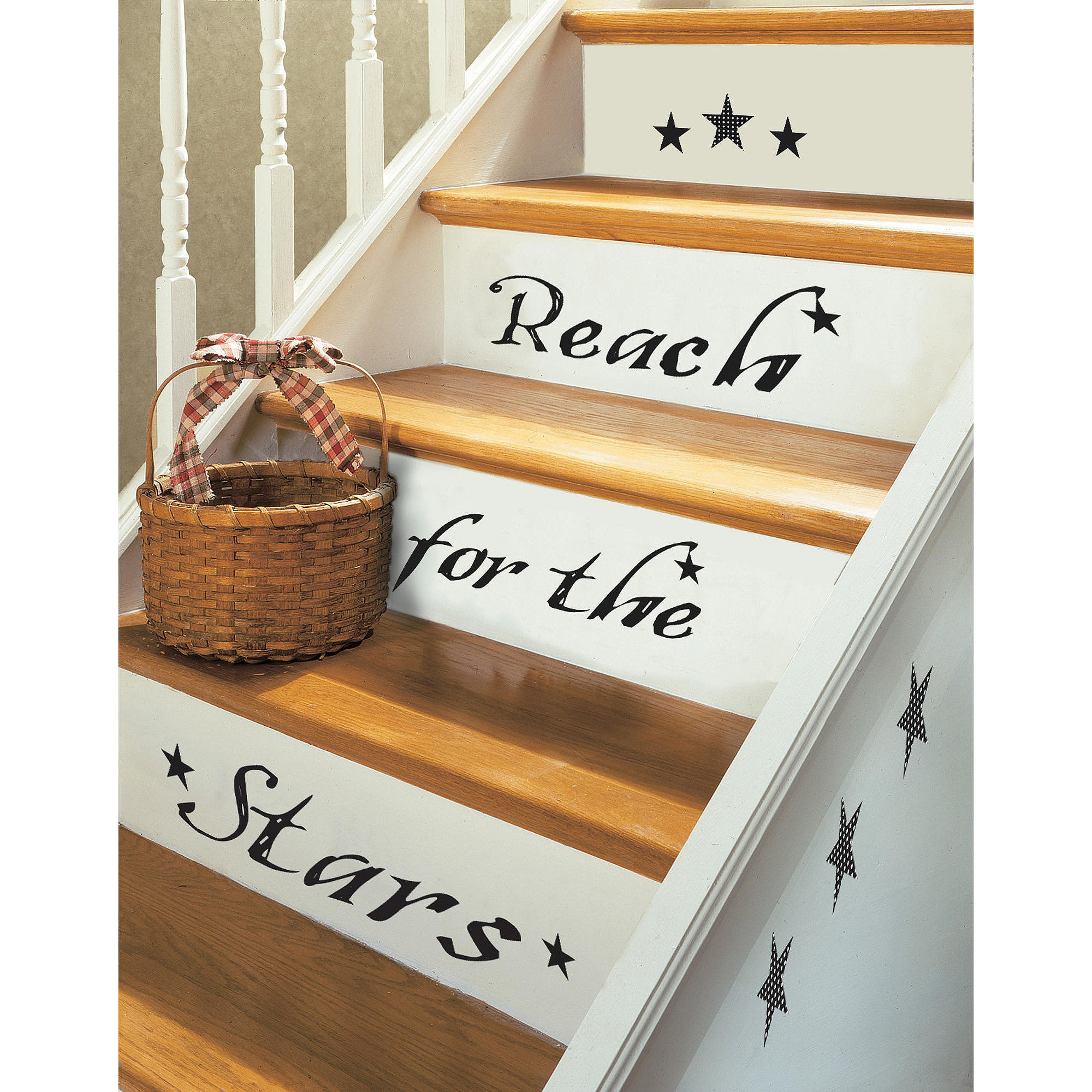 RoomMates Reach For The Stars Peel and Stick Wall Decals, Single Sheet