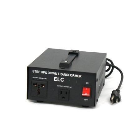 Varistor Circuit Protection - T-1500 1500-Watt Voltage Converter Transformer - Step Up/Down - 110V/220V - Circuit Breaker Protection, Up to 1500 Watt Maximum Capacity By ELC