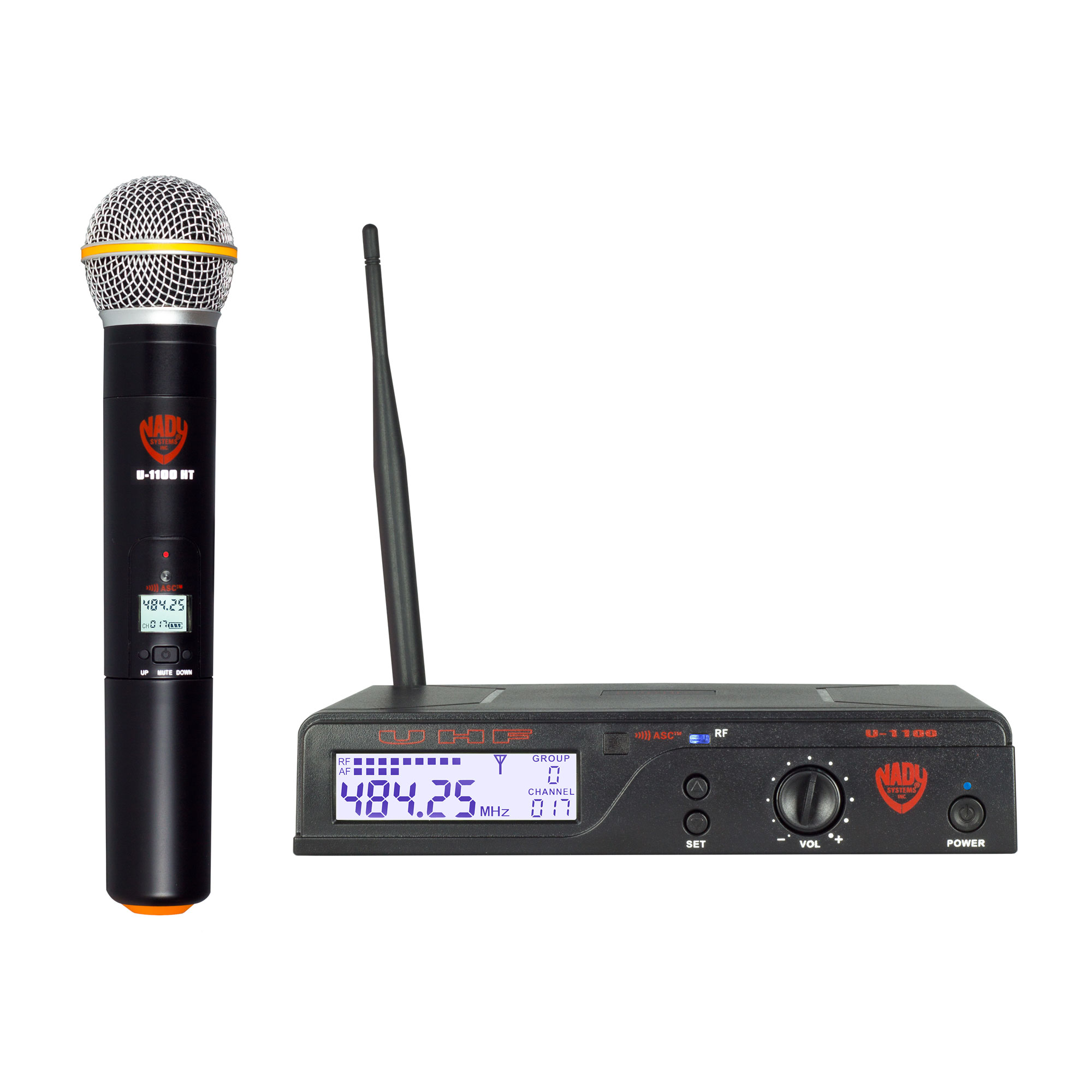 Nady U-1100 HT 100-Channel UHF Wireless Handheld Microphone System by Nady