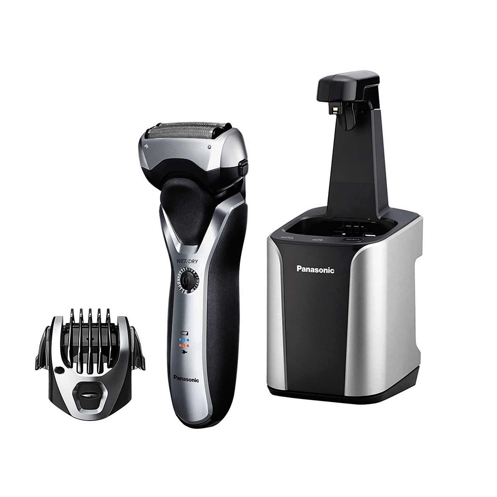Panasonic Arc3 Electric Razor, Men's 3-Blade with Wet/Dry Convenience, Comb Attachment for