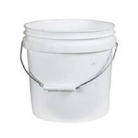 Leaktite 01GL024 Plastic Pail, White, 1-Gal.