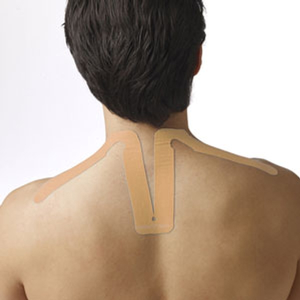 SpiderTech Precut Kinesiology Tape Neck Beige