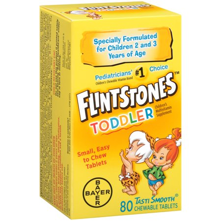 Flintstones Toddler Chewable Children's Multivitamin Tablets, 80 Count