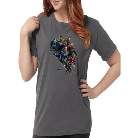CafePress - Avengers Endgame Char - Womens Comfort Colors? Shirt - The Avengers Women
