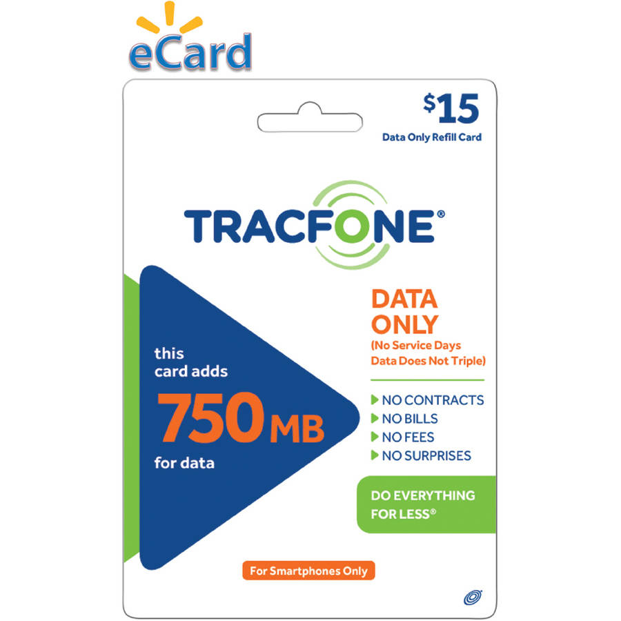 TracFone 750MB Data $15  (Email Delivery)