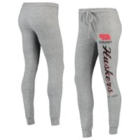 Women's Heathered Gray Nebraska Cornhuskers Academia Cuffed Pants