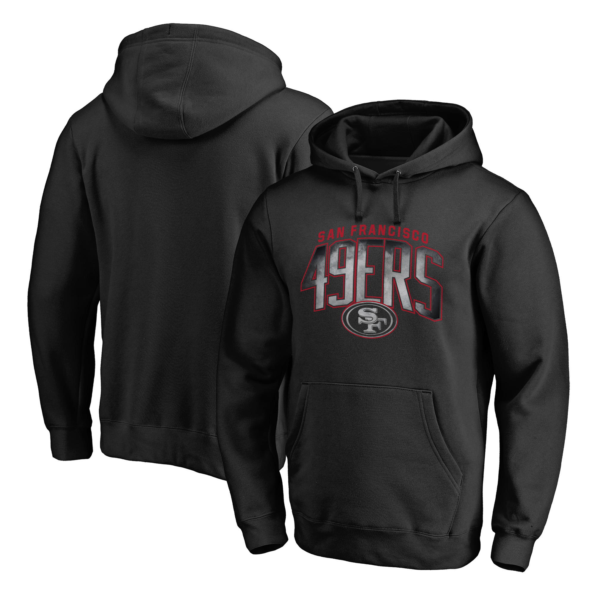 San Francisco 49ers NFL Pro Line by Fanatics Branded Arch Smoke Pullover Hoodie - Black