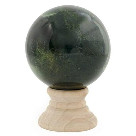 BestPysanky Dark Green Polished Marble Stone Sphere