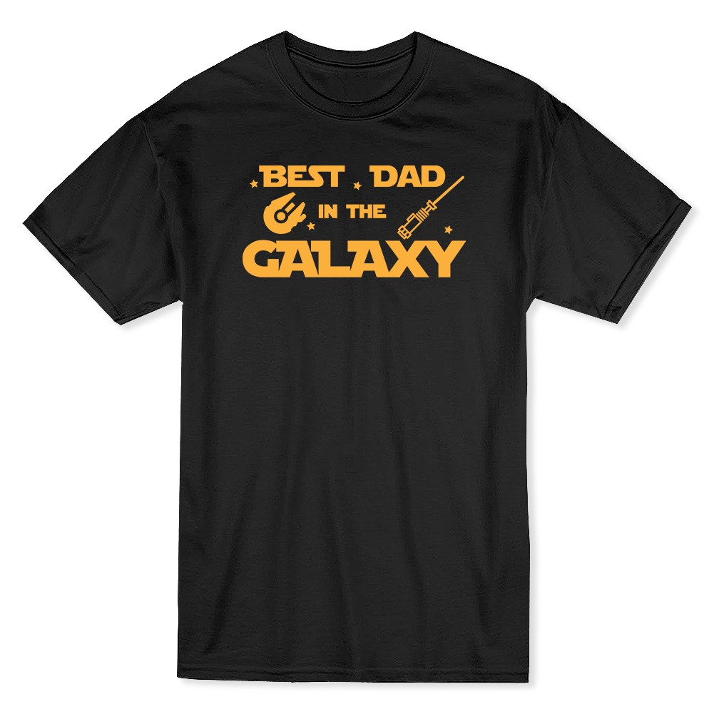 7f86e0a5 Best Dad In The Galaxy Cool Star Father Day Men's Black T-shirt ...