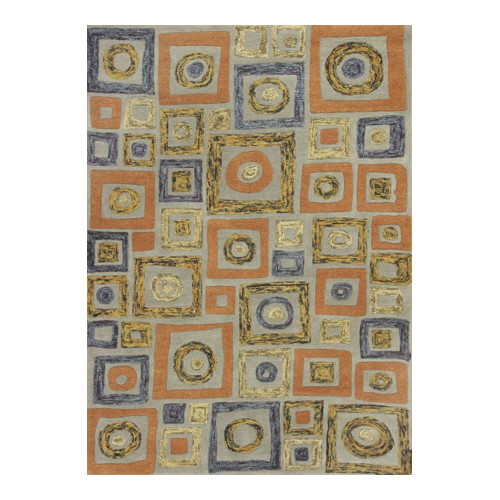 KAS Rugs Geo Cityscape Blue Area Rug