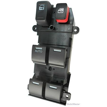 Honda CR-V Master Power Window Switch 2007-2011 (2007 2008 2009 2010 2011) (electric control panel lock button auto driver passenger door)