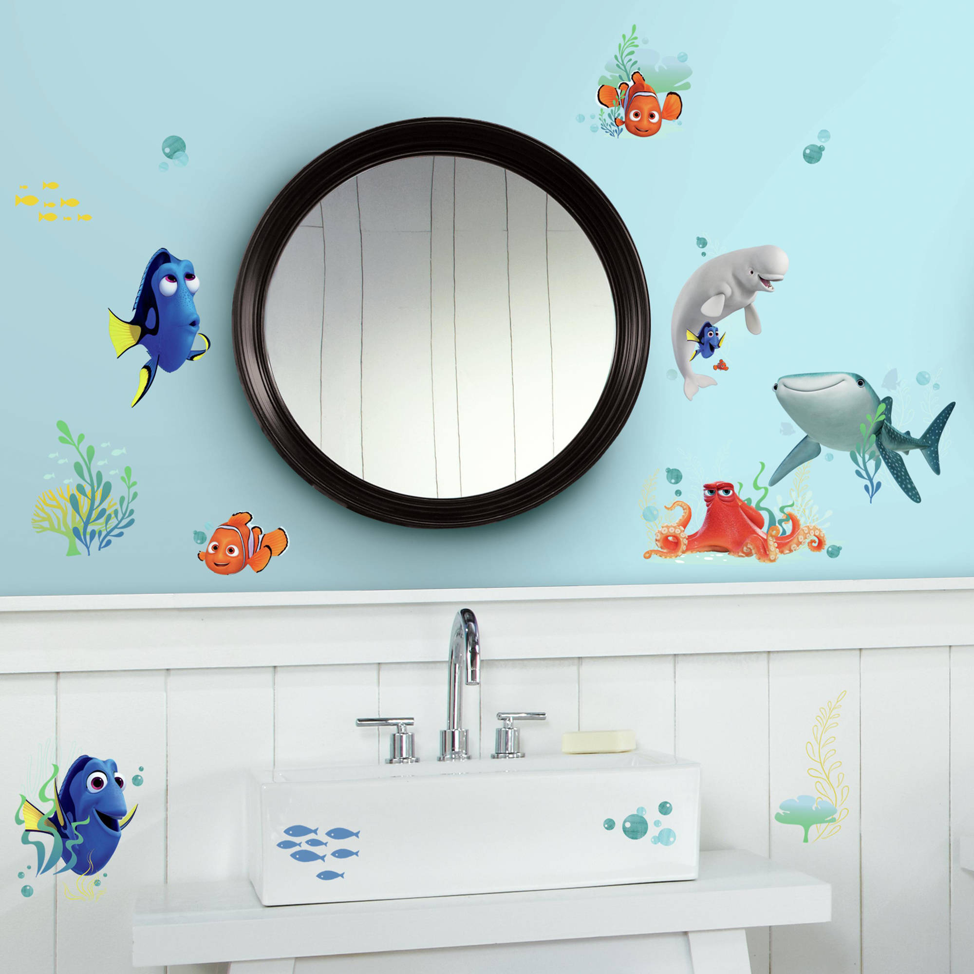 Wall Sticker Bathroom Roommates Finding Dory Peel And Stick Wall Decals Walmartcom