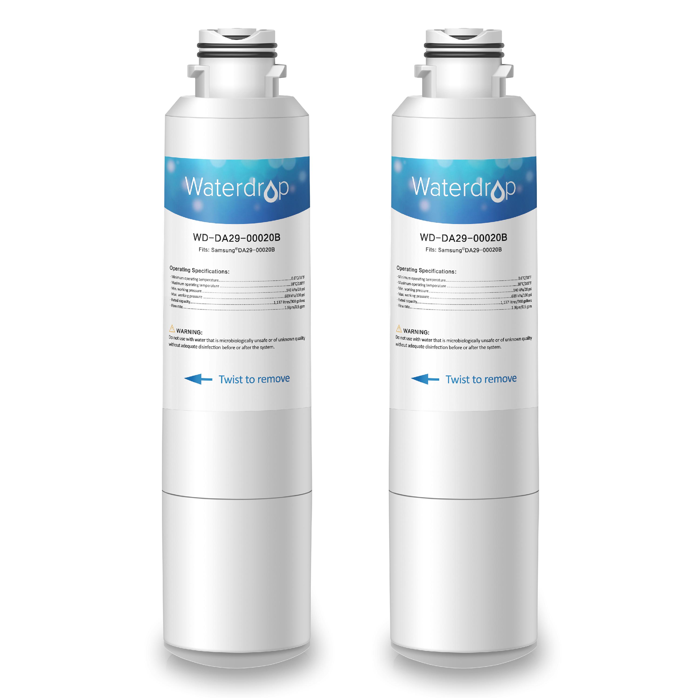 2 Pack Waterdrop DA29-00020B Replacement for Samsung DA29-00020B, HAF-CIN/EXP, 46-9101 Refrigerator Water Filter