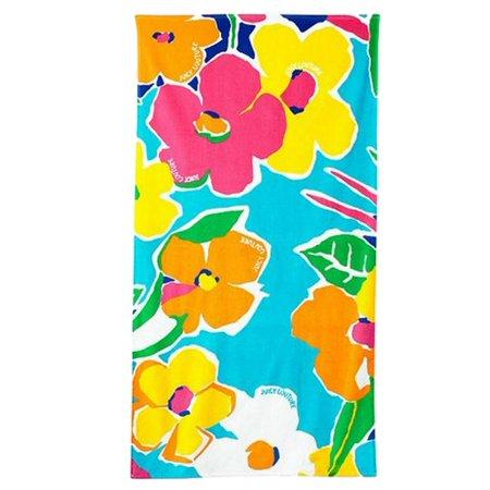 Juicy Velour Suit - Juicy Couture Tropical Flower Turkish Cotton Velour Beach Towel 34x64