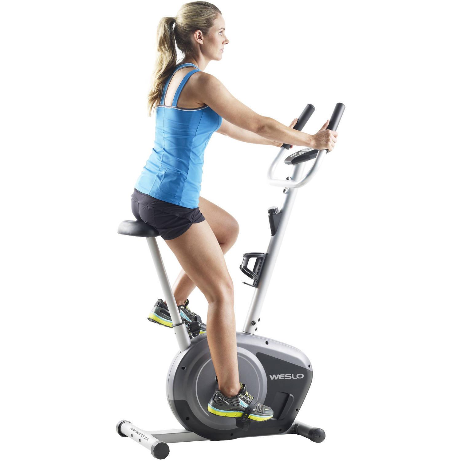 Weslo Pursuit CT 2.4 Upright Exercise Bike with Comfortable Seat