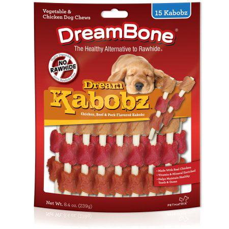 Dreambone Chicken, Beef and Pork Flavored Kabobz, 15-Pack