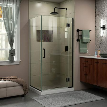 DreamLine Unidoor-X 35 3/8 in. W x 30 in. D x 72 in. H Frameless Hinged Shower Enclosure in Satin (Steam Shower Enclosure)