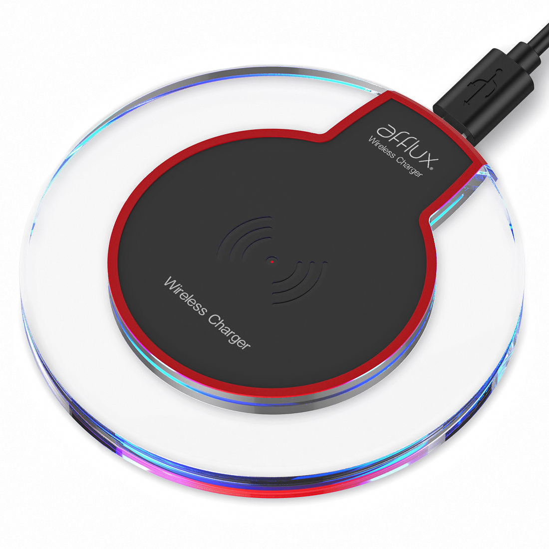 Qi Wireless Charging Pad Slim Charger Dock For Apple iPhone X iPhone 8 Plus Samsung Galaxy S8 S9+ Galaxy S6 S7 Edge Plus Note 9 8 5 Xperia XZ3 LG G7 ThinQ and all Qi-Enabled Devices