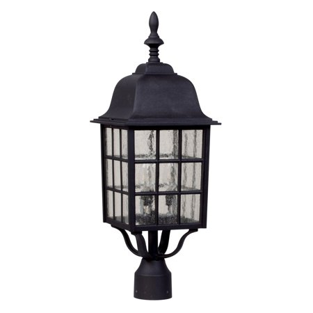 Patio Post Mount Natural - Craftmade Grid Cage Z575 Outdoor Post Mount Light