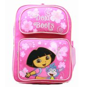 Backpack - - Pink Butterfly (Large School Bag) New 36286