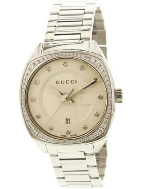 f52edb3b4ac Free shipping. Product Image Women s Gg2570 YA142505 Silver Stainless-Steel  Swiss Quartz Dress Watch. Gucci