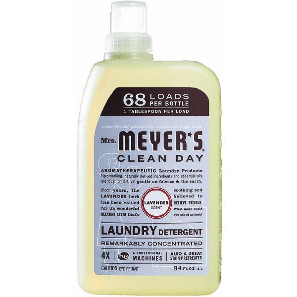 Mrs. Meyer's Clean Day Lavender Scent Laundry Detergent, 34 fl oz