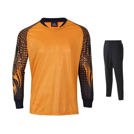 9eec49fe5df 1 Stop Soccer Set Goalkeeper Jersey & Pants Padded elbows Knees ...