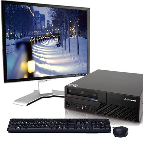 "Lenovo Desktop Computer Windows 10 Intel 2.13GHz Processor 4GB RAM DVD Wifi with a 17"" LCD-Refurbished PC Bundle"