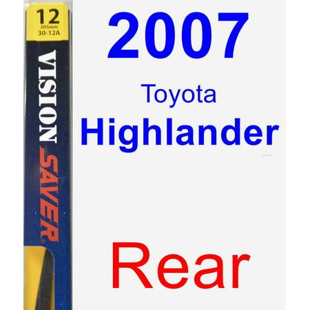 2007 Toyota Highlander Rear Wiper Blade -