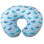 Original Boppy Nursing Pillow and Positioner, Whale Watch Blue