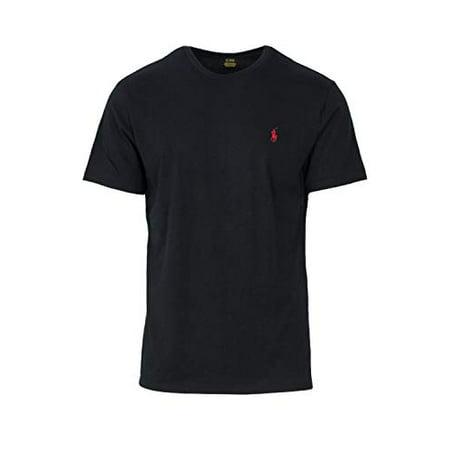 Polo Ralph Lauren Mens Crew Neck T-shirt (XX-Large, Black)