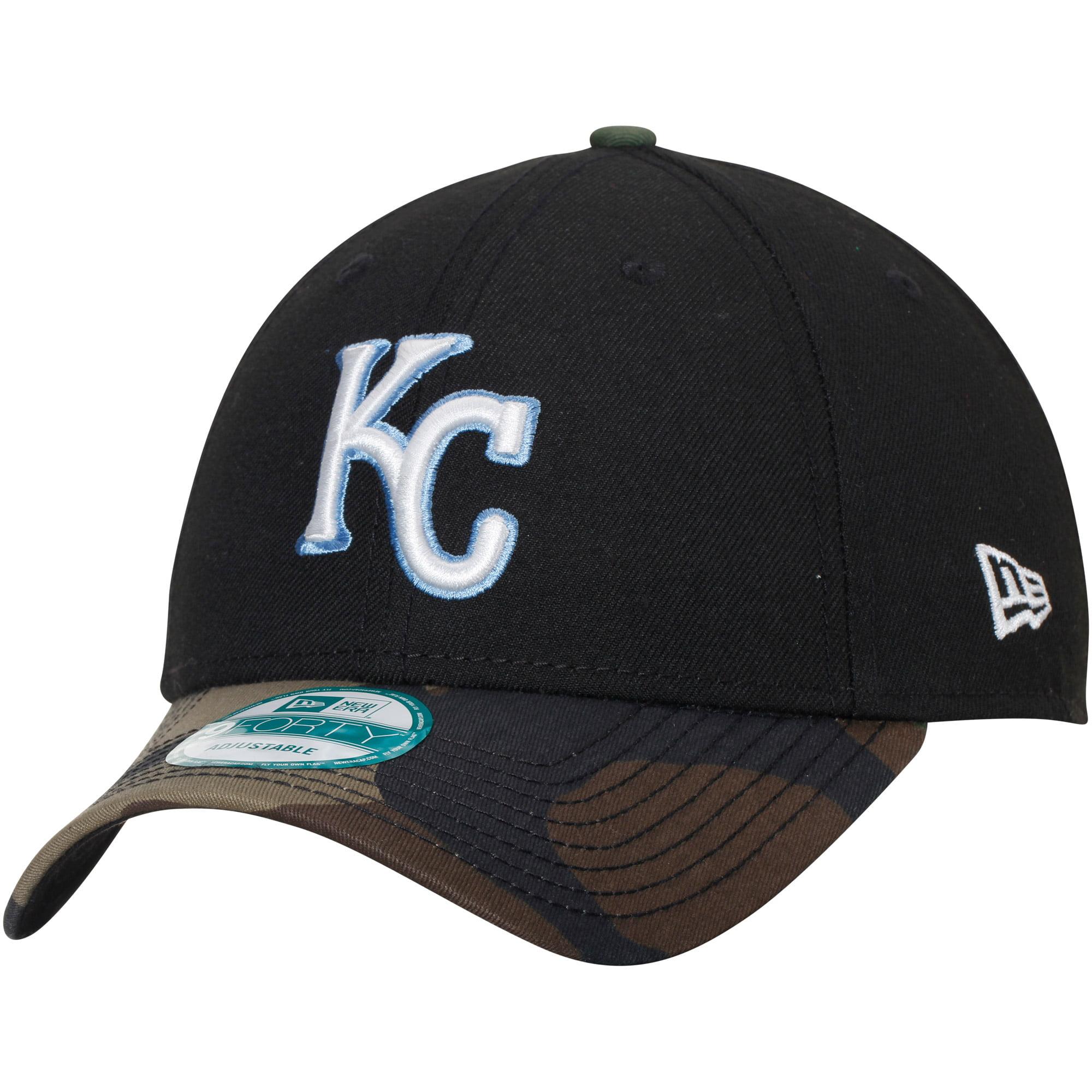Kansas City Royals New Era The League 9FORTY Adjustable Hat - Black/Camo - OSFA