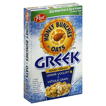 Post Foods Honey Bunches Greek Cereal, 15 5 oz