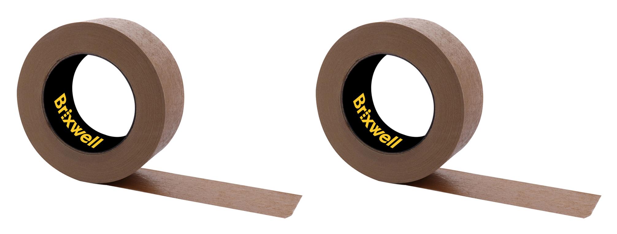 Flatback Kraft Brown Paper Packing Tape 2 Inch x 60 Yards 5.5 Mil 24 Rolls